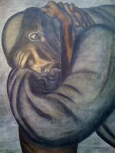 San Francesco d'Assisi abbraccia un povero