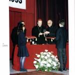 Il Cardinal Martini con padre Guerello al centenario del Leone
