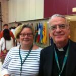 Padre Lombardi con la professoressa Helms