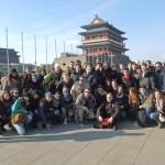 Il gruppo in Piazza Tienanmen