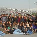 Il gruppo del Leone davanti allo stadio olimpico