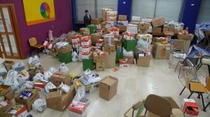 Le scatole immagazzinate nella Sede degli Exalunni