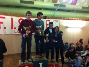 podio slalom gigante