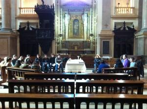 Celebrazione della Messa conclusiva del ritiro delle seconde liceo a San Fedele