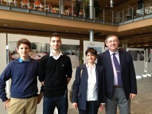 Da sin. Filippo De Nicola, Marco Spera, i professori Elisabetta Brun e Paolo Tenconi