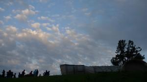 Il campo tende preparato per passare la notte