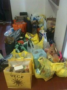 Gli alimenti raccolti nella colletta del 2012