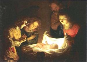 "Gerrit van Honthorst, ""Adorazione del Bambino"", 1620"