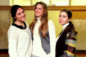 Da sinistra, Federica Parenti, Lucrezia Menoncello, Gaia Pieri