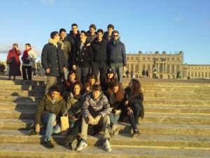 Qui Versailles: tramonto sulla reggia