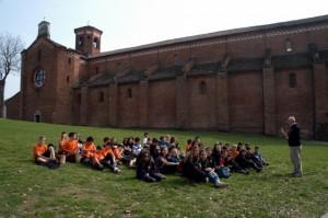 Lezione di storia del prof. Diliberto all'abbazia di Morimondo