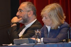 Il Ministro Stefania Giannini e padre Vitangelo Denora S.I.