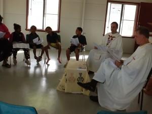 Celebrazione della Messa coi bambini aborigeni