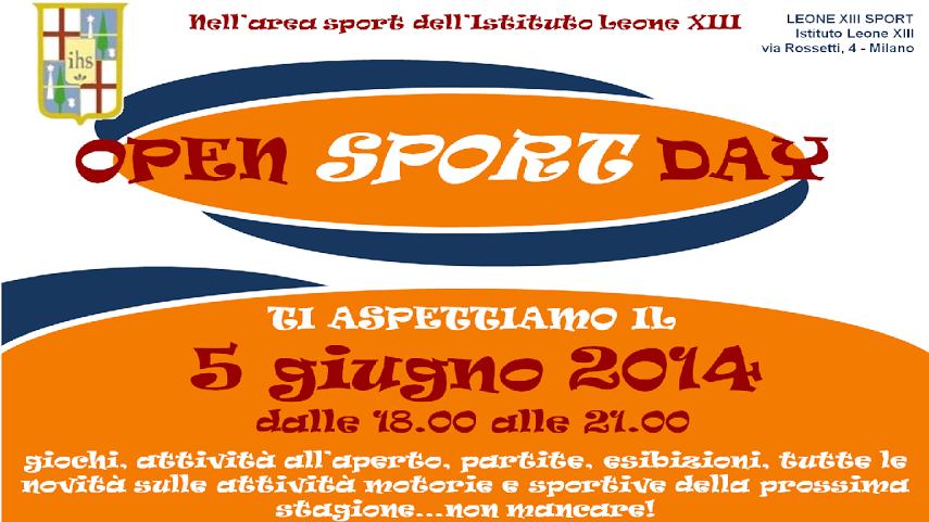 manifesto open sport piccolo