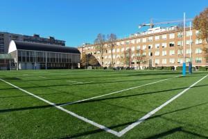 Il nuovo campo da rugby in sintetico