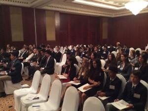 I giovani partecipanti alla cerimonia inaugurale