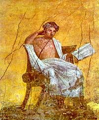 Il commediografo greco Menandro (IV - III a.c.)