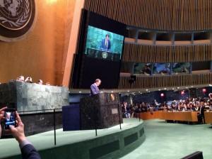 L'intervento di Marco Tardelli al Palazzo dell'ONU