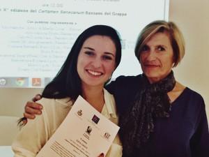 Sofia con la prof.ssa Biella