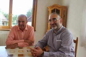 Arturo Gulinatti, a sin., con padre Vitangelo Denora