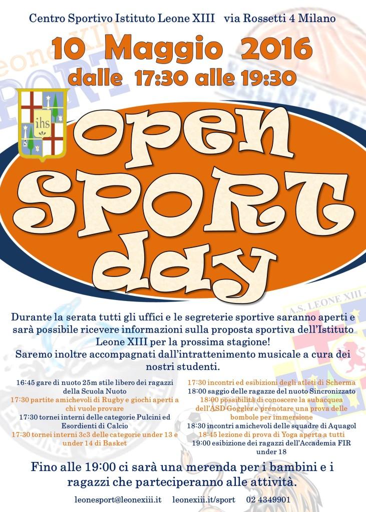 manifesto Open Sport Day 2016