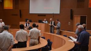 La benedizione dell'aula della Congregazione