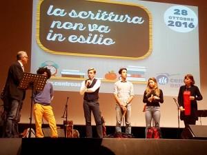 Andrea Riganti (con il microfono)