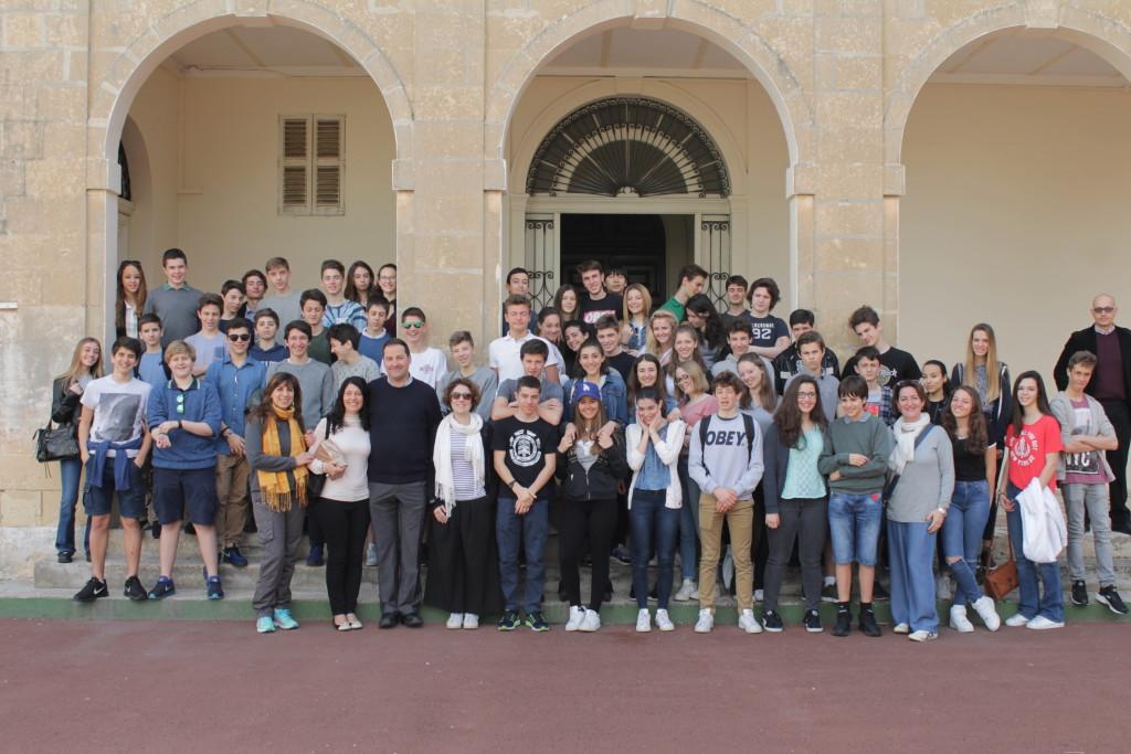 Foto di gruppo al St. Aloysius
