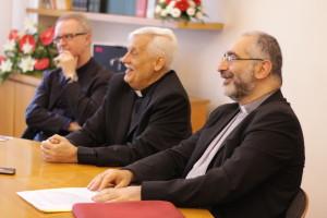 Al centro padre Sosa, alla sua destra padre Matarazzo, alla sin. padre Denora