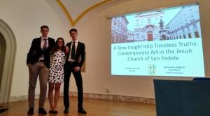 I Leoniani: da sin. Alessandro, Sara e Vittorio