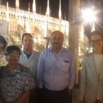 Visit to Milan  professor Chiocchio, Principal Noronha, professor Bises, Principal Ninan, Ms Perez Sastre