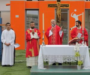 Padre Vitangelo Denora SJ durante l'omelia