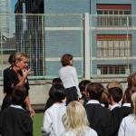 In terrazza con le maestre