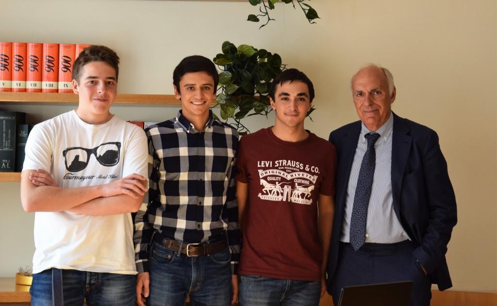 Il dott. Biondi e alla sua destra Filippo Dallanoce, Giacomo Astolfi e Paolo Pallavicini