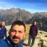 Guide: da sin. prof. Paolo Biscardini, padre Robert Popa, prof. Giulio Pini
