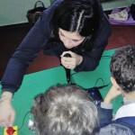 La maestra Alessandra di Domenico con un inedito strumento musicale digitale