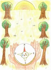 """Primo premio Scuola Primaria nella categoria """"Attualità""""- Disegno del nostro alunno Gianmaria Medici"""