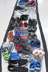 La fila di scarpe