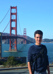 Thomas Maisonneuve al Golden Bridge in San Francisco